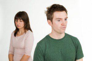 Traurig über Streit