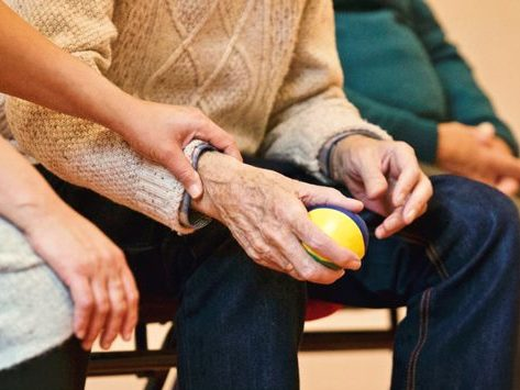Alte Menschen Hände
