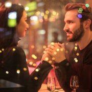 Mann und Frau romantisch